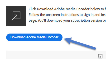 download adobe media encoder cc 2019
