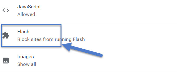 chrome unblock flash