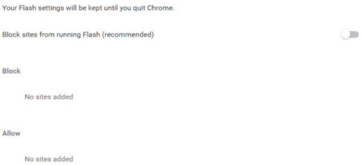 enable adobe flash player chrome